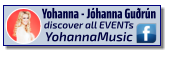 Yohanna - Jóhanna Guðrún discover all EVENTs YohannaMusic